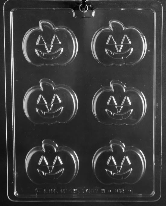 Grinning Jack-o-Lantern Cookie Chocolate Mold