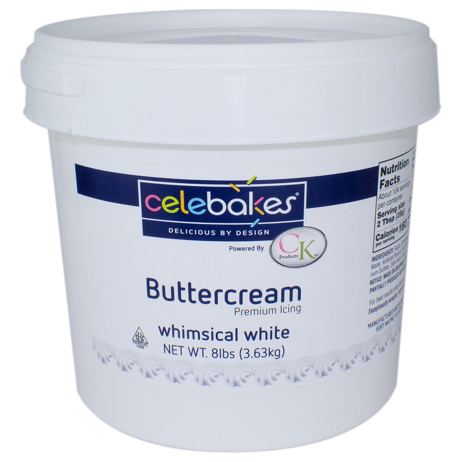 Celebakes Whimsical White Buttercream - 8lbs