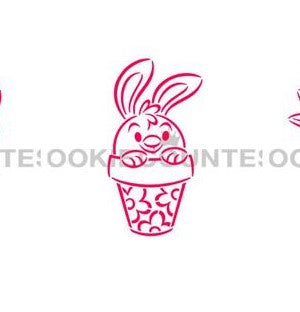 Bunny in Pot PYO Stencil Cookie Countess