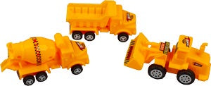 "Construction Zone - 3.25"" - 3 pc set - Trucks Only"