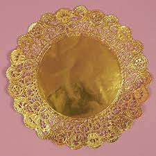 "10"" Gold Doilies - 10 Pieces"