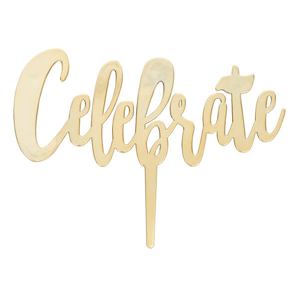 Celebrate Candle Holder - Gold