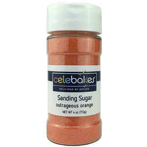 Celebakes Outrageous Orange Sanding Sugar