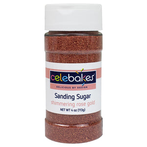 Celebakes Rose Gold Sanding Sugar