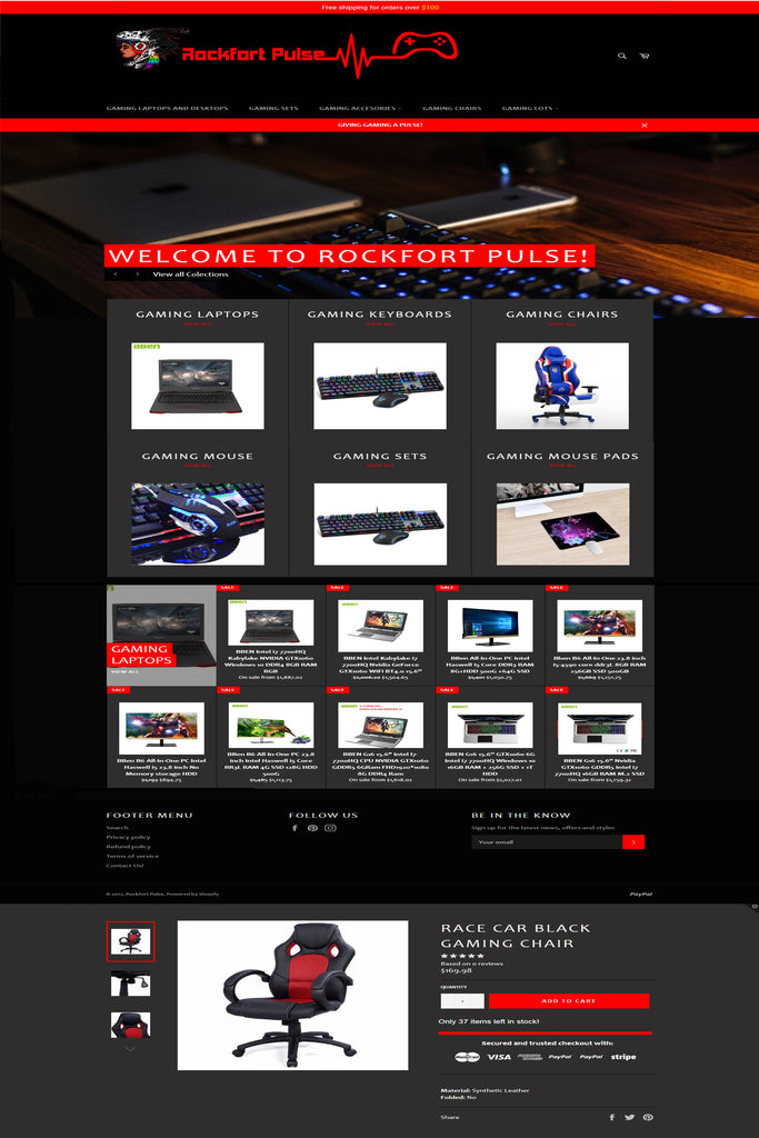gaming shopify store