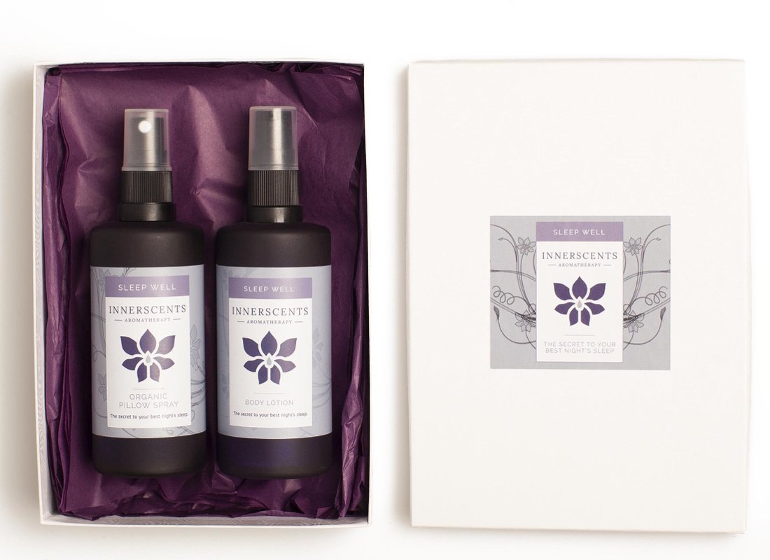 Sleep Well Organic Pillow Spray & Body Lotion Gift Set