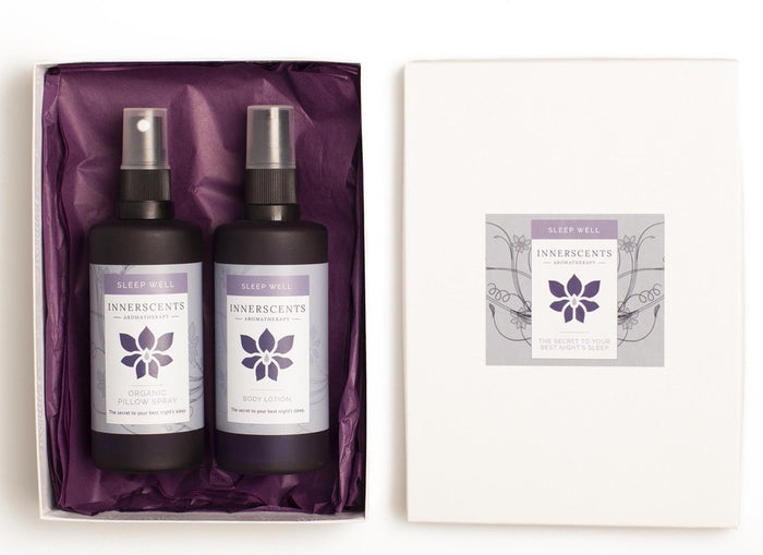 Sleep Well Aromatherapy Pillow Spray & Body Lotion Gift Set - Innerscents Aromatherapy
