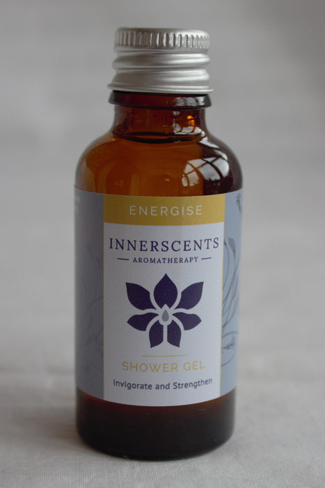 Energise Aromatherapy Shower Gel 30ml - Innerscents Aromatherapy