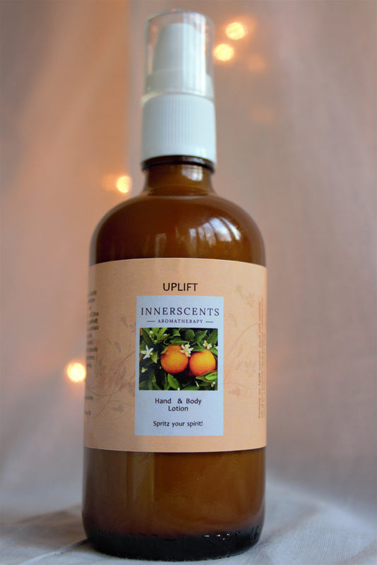 Uplift Aromatherapy Hand and Body Lotion 100ml - Innerscents Aromatherapy