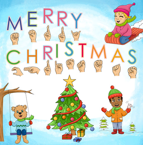 Emma and Egor Sign Language Christmas Card