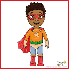 Eli as the sign language superhero - I LOVE YOU Man - bring joy and sign language to children everywhere