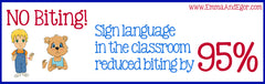 No biting! Emma and Egor sign language curriculum attributed to drop in biting in toddler classroom