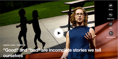 "Heather Lanier TED Talk ""Good"" and ""bad"" are incomplete stories we tell ourselves"