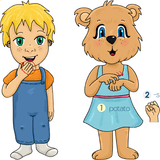Emma and Egor sign sweet potatoes. Learn Thanksgiving Sign Language with Emma and Egor.