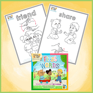 Coloring Pages-Friend and Share-Print at Home-Coloring Book-Emma & Egor-Emma & Egor