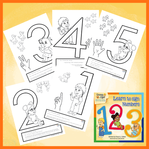 Coloring Pages-Numbers 123-Print at Home-Coloring Book-Emma & Egor-Emma & Egor