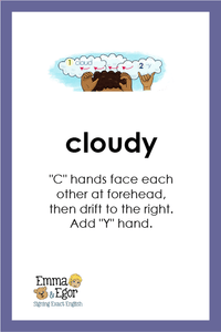 Flashcards-What is the Weather Like Today?Print at Home-Flashcards - Print at Home-Emma & Egor-Emma & Egor