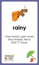 Load image into Gallery viewer, Flashcards-What is the Weather Like Today?-Flashcards-Emma & Egor-Emma & Egor