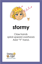 Load image into Gallery viewer, Flashcards-What is the Weather Like Today?Print at Home-Flashcards - Print at Home-Emma & Egor-Emma & Egor