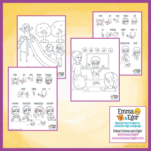 Coloring Pages-How are you Feeling Today?-Print at Home 2019-Coloring Book-Emma & Egor-Emma & Egor
