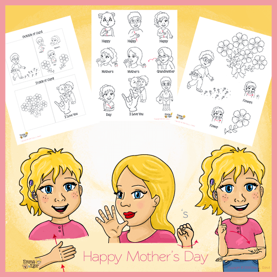 Coloring Pages-Mother's Day Card-Print at Home-Coloring Book-Emma & Egor-Emma & Egor