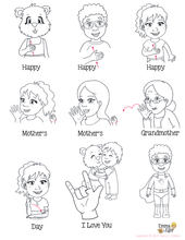 Load image into Gallery viewer, Coloring Pages-Mother's Day Card-Print at Home-Coloring Book-Emma & Egor-Emma & Egor