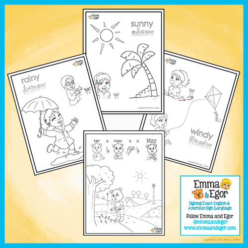 Coloring Pages-MAY 2020 Weather-Print at Home-Coloring Book-Emma & Egor-Emma & Egor