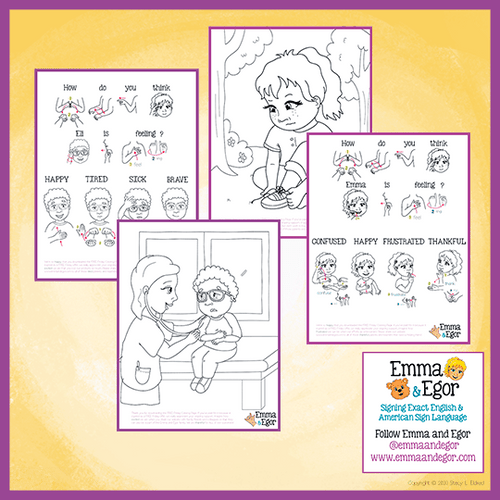 Coloring Pages-How are you Feeling Today?-Print at Home 2020-Coloring Book-Emma & Egor-Emma & Egor