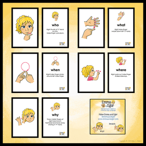 Flashcards-Questions SAMPLE-Print at Home-Flashcards - Print at Home-Emma & Egor-Emma & Egor