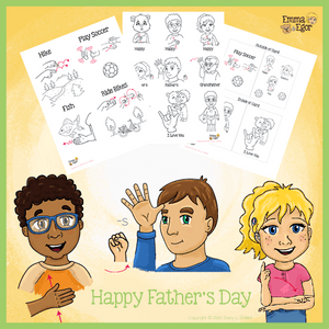 Coloring Pages-Father's Day Card-Print at Home-Coloring Book-Emma & Egor-Emma & Egor