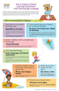 7 Tips for Teaching Sign Language-Print at Home-Poster - Print at Home-Emma & Egor-Emma & Egor