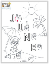 Load image into Gallery viewer, June-Print at Home-Coloring Pages-Coloring Book-Emma & Egor-Emma & Egor