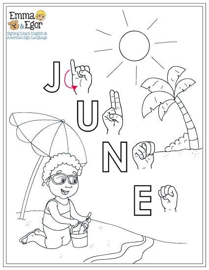 June-Print at Home-Coloring Pages-Coloring Book-Emma & Egor-Emma & Egor