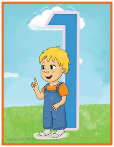 Emma and Egor-Learn to Sign Numbers-XL-Flashcards-Flashcards-Emma & Egor-Emma & Egor