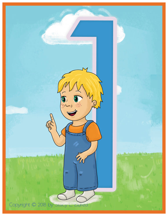 Emma and Egor-Print at Home-Learn to Sign Numbers-XL-Flashcards-Flashcards - Print at Home-Emma & Egor-Emma & Egor