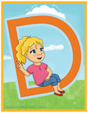 Emma and Egor-Print at Home-Learn To Sign Their ABCs-XL-Flashcards-Flashcards - Print at Home-Emma & Egor-Emma & Egor