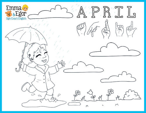 April-Print at Home-Coloring Pages-Coloring Book-Emma & Egor-Emma & Egor
