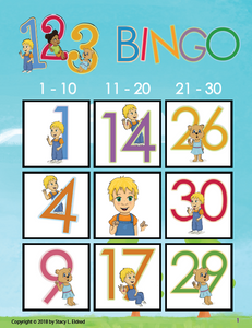 Bingo-Numbers 123-Print at Home-BINGO - Print at Home-Emma & Egor-Emma & Egor