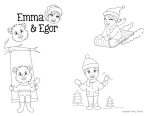 Christmas-Print at Home-Coloring Pages-Coloring Book-Emma & Egor-Emma & Egor