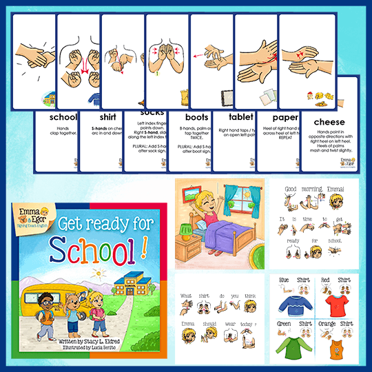 Emma and Egor-Get Ready for School-Book and Flashcards-Book-Flashcards-Emma & Egor-Emma & Egor