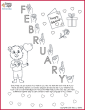 Load image into Gallery viewer, February 2020-Print at Home-Coloring Pages-Coloring Book-Emma & Egor-Emma & Egor