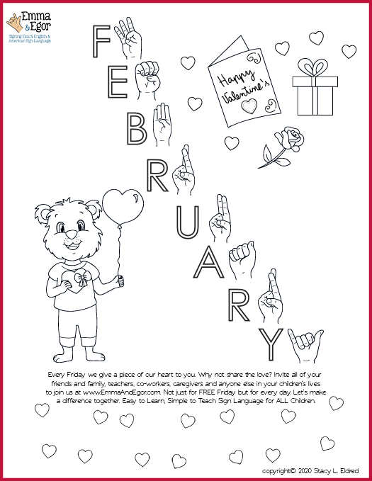 February 2020-Print at Home-Coloring Pages-Coloring Book-Emma & Egor-Emma & Egor