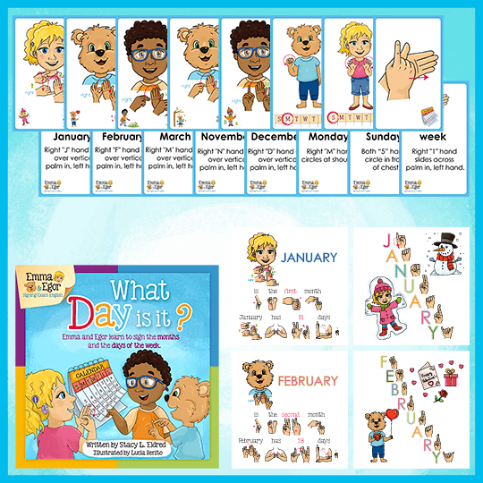 Emma and Egor-What Day is It?-Book and Flashcards-Book-Flashcards-Emma & Egor-Emma & Egor