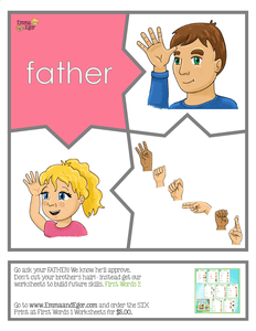 Puzzles-First Words Family-Print at Home-Puzzles-Print at Home-Emma & Egor-Emma & Egor