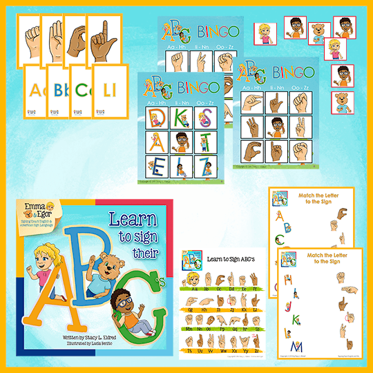 Emma and Egor-Learn to Sign Their ABC's- Kit-Kit-Emma & Egor-Emma & Egor