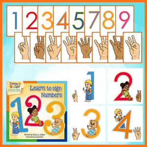 Emma and Egor-Learn to Sign Numbers 123-Book and Flashcards-Book-Flashcards-Emma & Egor-Emma & Egor