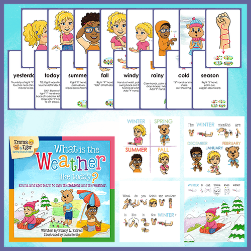 Book and Flashcards-What is the Weather like Today?-Book-Flashcards-Emma & Egor-Emma & Egor