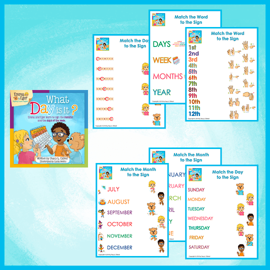 Emma and Egor-What Day is It? Matching-Worksheets-Worksheets-Emma & Egor-Emma & Egor