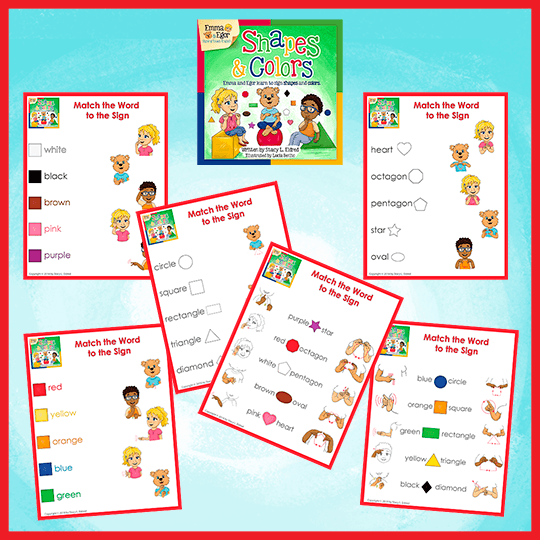 Emma and Egor-Shapes and Colors-Worksheets-Worksheets-Emma & Egor-Emma & Egor