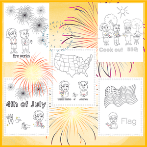Coloring Pages-4th of July-Print at Home-Coloring Book-Emma & Egor-Emma & Egor